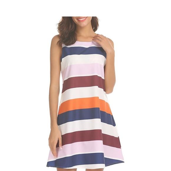 cc71a68d02c BLAIR Bright Striped Summer Dress
